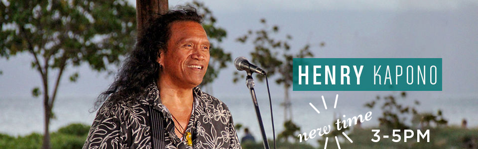 Henry kapono performing live by the ocean