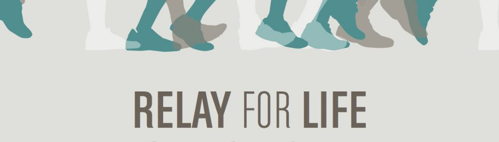 Relay for life with teal grey and white clipart of feet