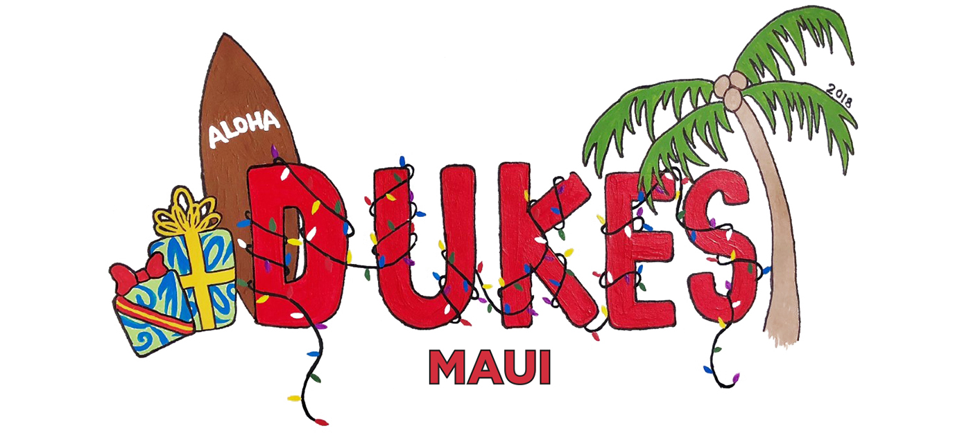 Christmas drawing of dukes maui